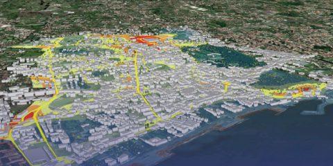 """""""Nasi IoT"""" a caccia di smog in città. L'inquinamento si vede nelle mappe 3D"""
