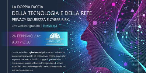 Privacy, sicurezza e cyber risk. Live webinar gratuito di Asso Dpo il 26 febbraio