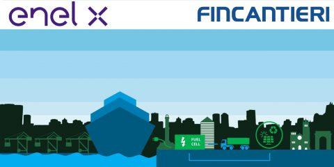 Enel X e Fincantieri insieme per la transizione energetica del trasporto marittimo in Italia