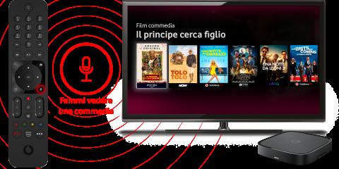 Vodafone lancia il nuovo Tv Box con Netflix e l'area Kids