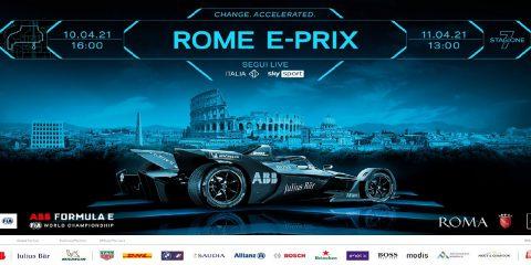 Campionato del Mondo di Formula E a Roma il 10 e 11 aprile 2021