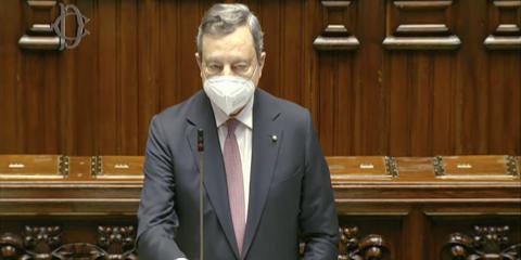 """Draghi: """"Dal 2027 tutti connessi con fibra e 5G"""""""