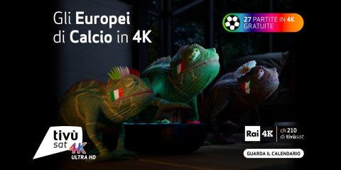 Europei di calcio, le partite dell'Italia trasmesse in chiaro e in 4K su tivùsat. Il calendario delle gare