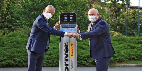 Pirelli ed Enel X portano le infrastrutture di ricarica per le auto elettriche nei gommisti driver