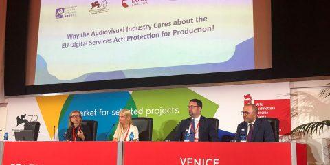 """Il Digital services act """"in scena"""" alla Mostra di Venezia. L'Industry mondiale: """"Estendere il 'Kybc' a tutti gli operatori del web contro la pirateria audiovisiva"""""""